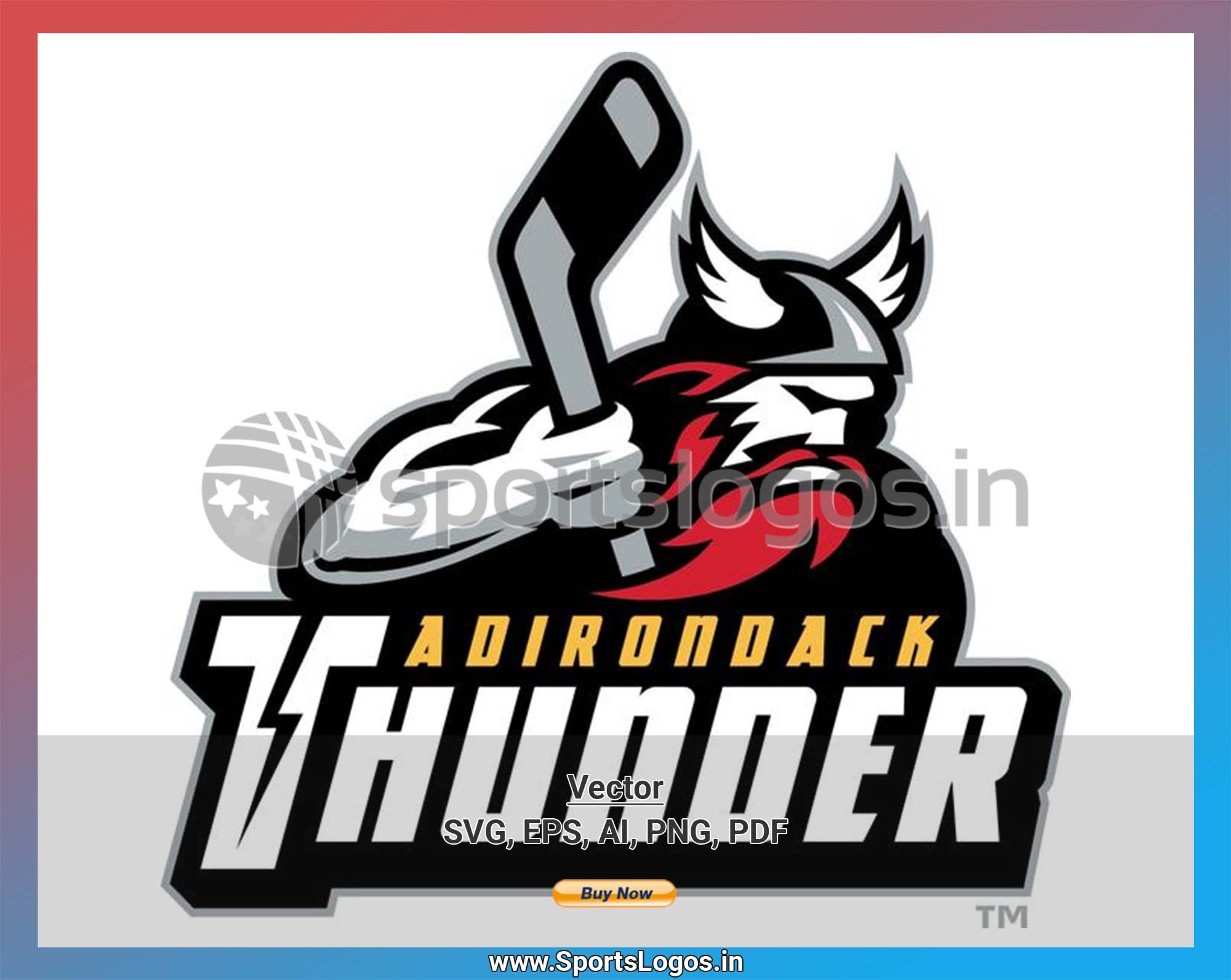 Adirondack Thunder 2015/16, ECHL, Hockey Sports Vector
