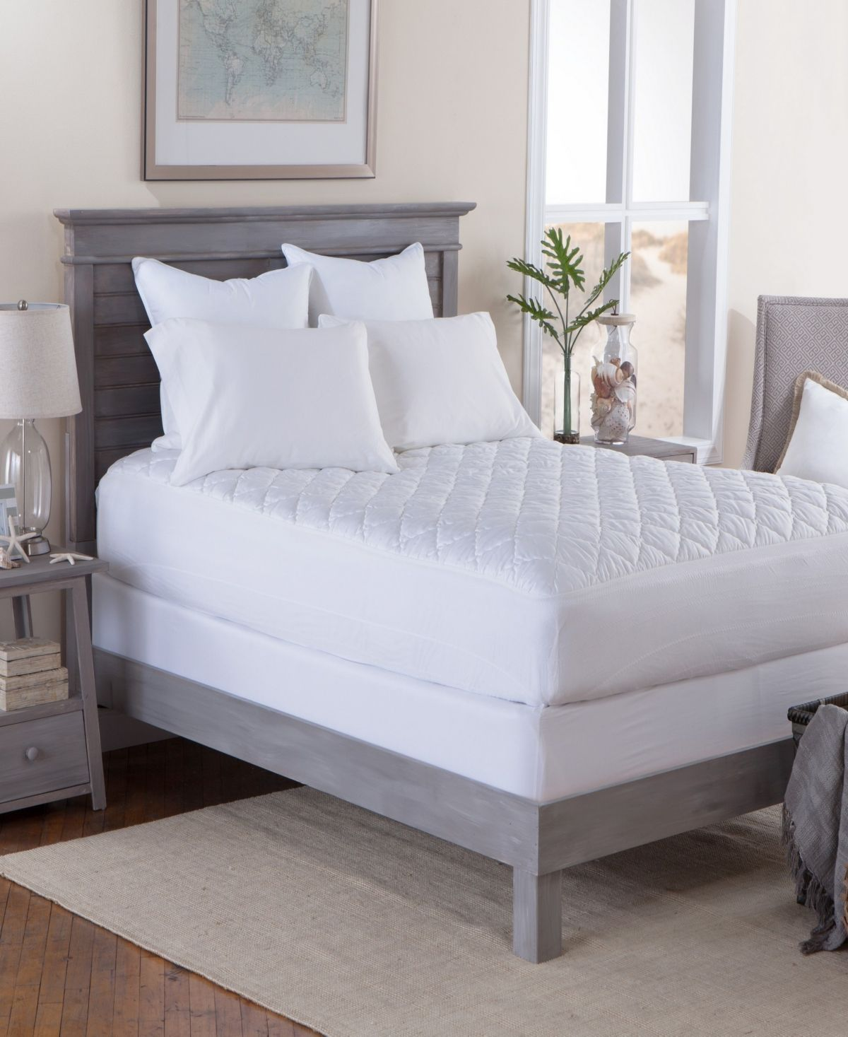 Tommy Bahama Home Tommy Bahama Waterproof Twin Xl Mattress Pad Reviews Mattress Pads Toppers Bed Bath Macy S Mattress Pad Tommy Bahama Bedding Mattress Furniture