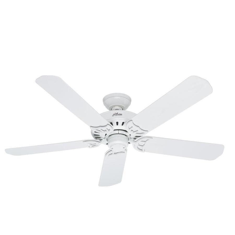 Hunter Bridgeport 52-in White Indoor/Outdoor Ceiling Fan ...
