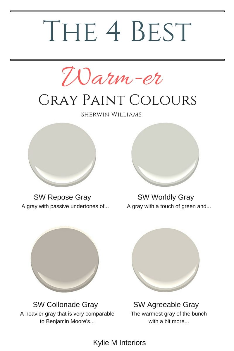The 4 Best Warm Gray Paint Colours Sherwin Williams Gray Paint Colors Sherwin Williams Grey Paint Colors Warm Grey Paint Colors
