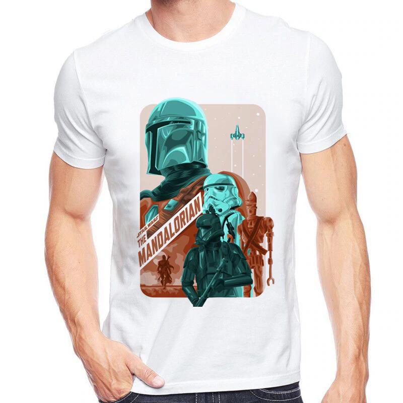 Star Wars boba fett Funny 3D print Casual T Shirt Men Women Short Sleeve Top