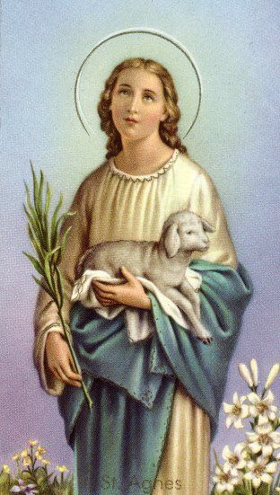 Saint Agnes Patron Saint Of Chastity