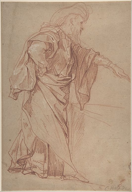 Standing Male Figure with Left Arm Extended ca 18th century