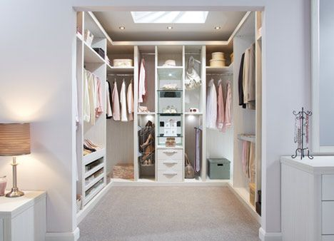 Ultimo Pearl finish - We can take your walk-in wardrobe ideas to create a