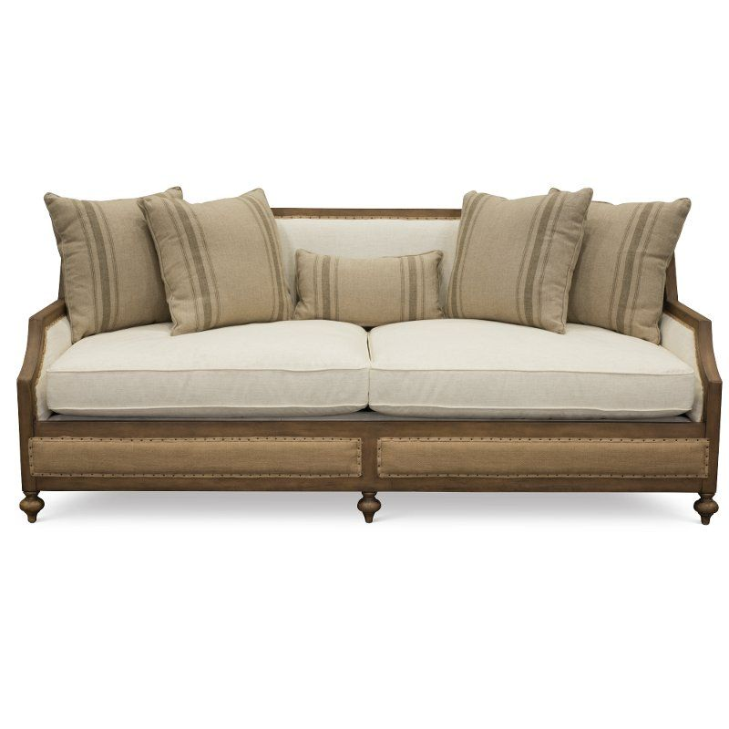 Magnolia Home Furniture Linen Amp Burlap Sofa Foundation