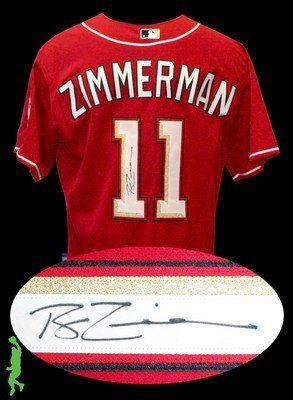 sports shoes 5db36 7df0d Ryan Zimmerman Signed Jersey - Basebal Coa - Autographed MLB ...