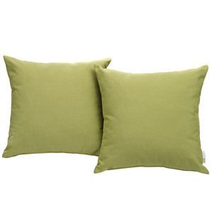 Modway Convene Two Piece Outdoor Patio Pillow Set in Peridot