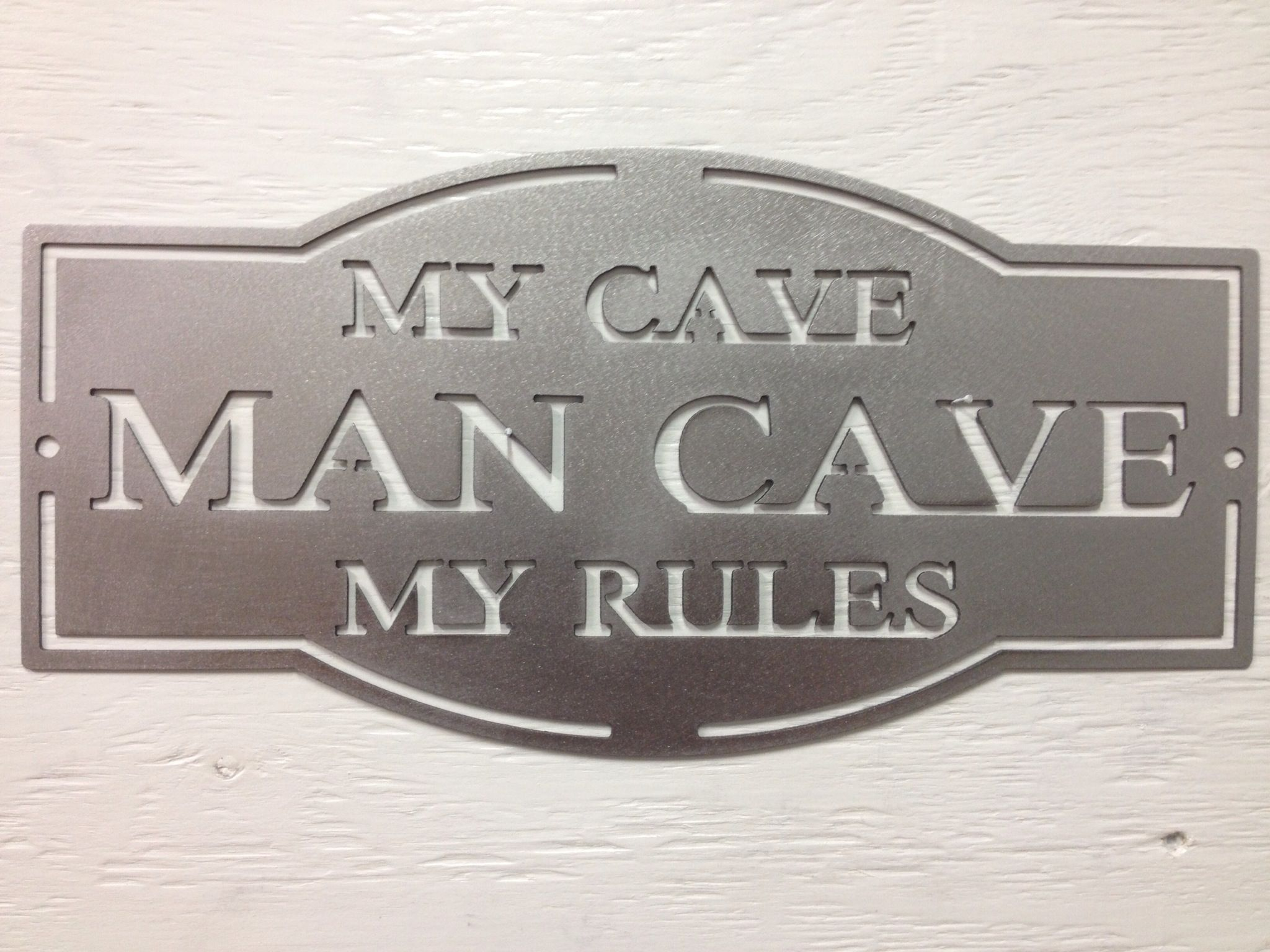 Man Cave Signs At Hobby Lobby : Metal man cave sign signs