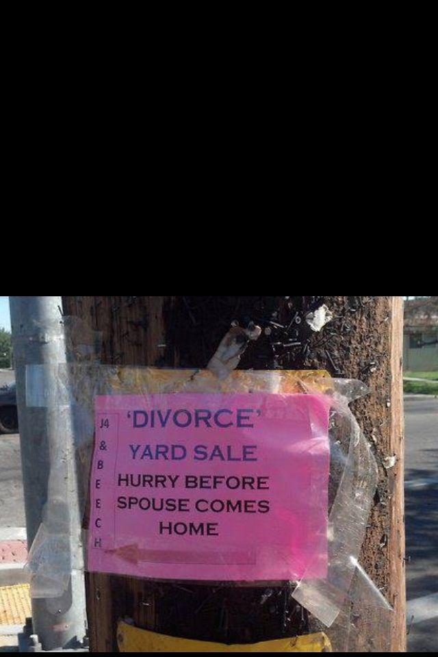 Garage Sale.. Divorce sale ..all his crap for free LOL!! #waitingtoexhale