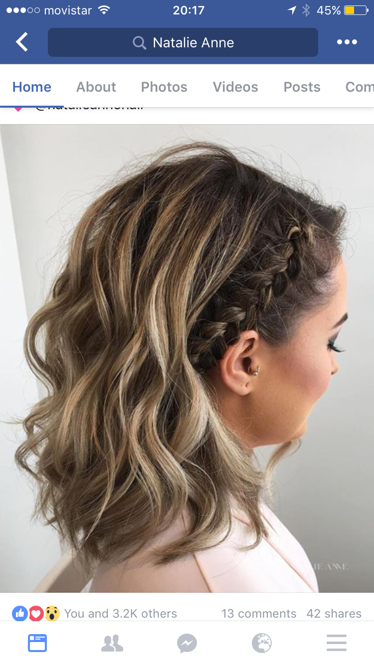 Braided side aubrey t pinterest hair style hair goals and