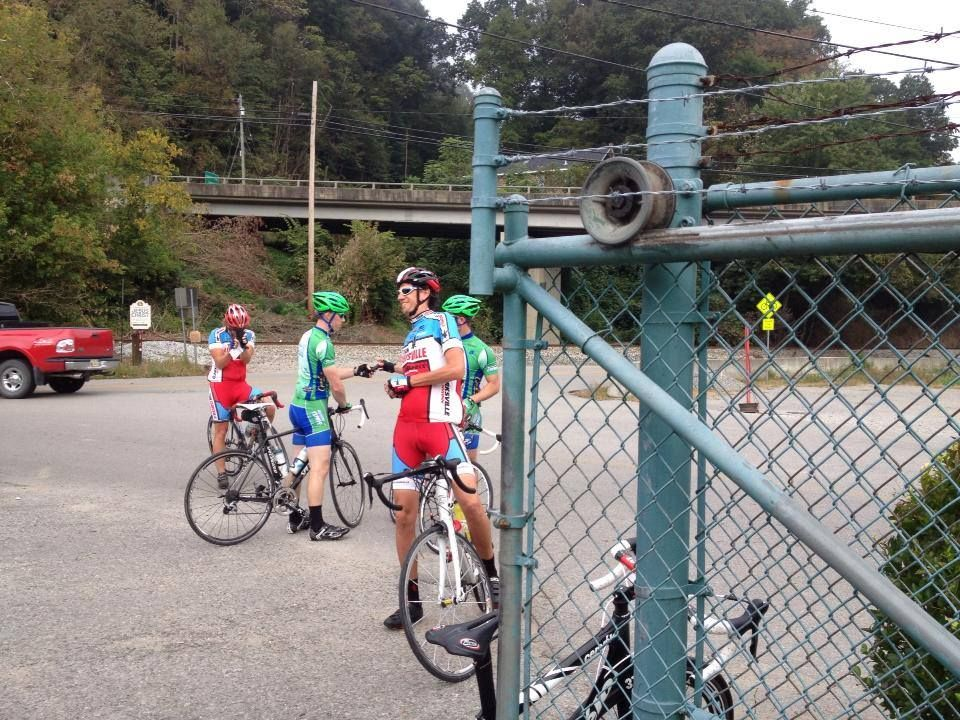 This is a photo taken at the Harlan SAG Stop during the #RidetotheSummit 2013 sponsored by Cumberland Tourism #BlackMountain #Harlan #Kentucky