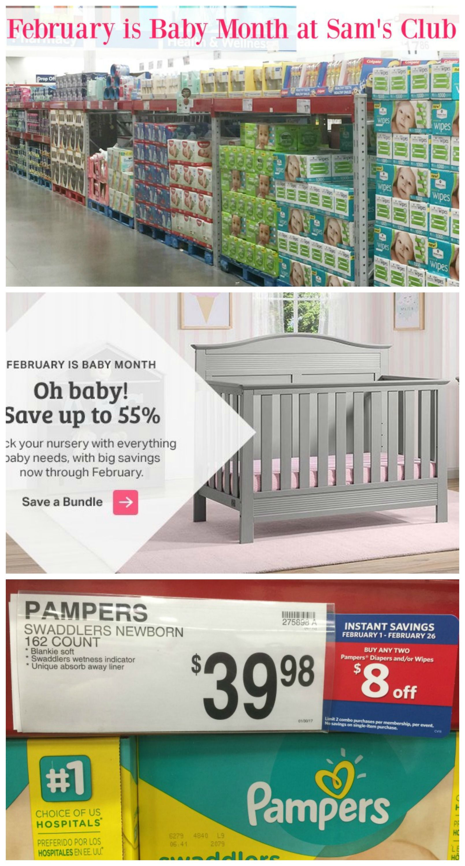 Looking for some baby deals? February is Baby Month at Sam's Club! Come see all the great savings! #ad