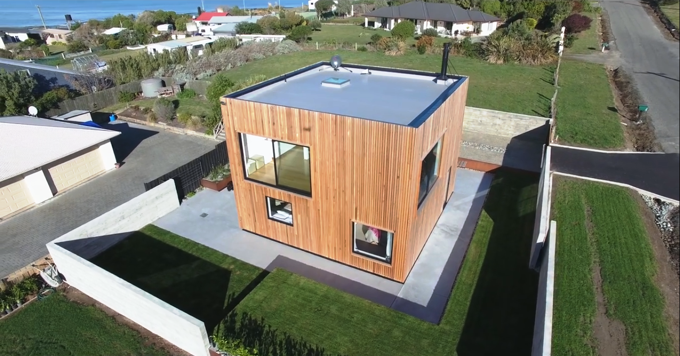 A 8×8 Meter Modern Cube Shaped House Built With Cost Effective Structure  Concept