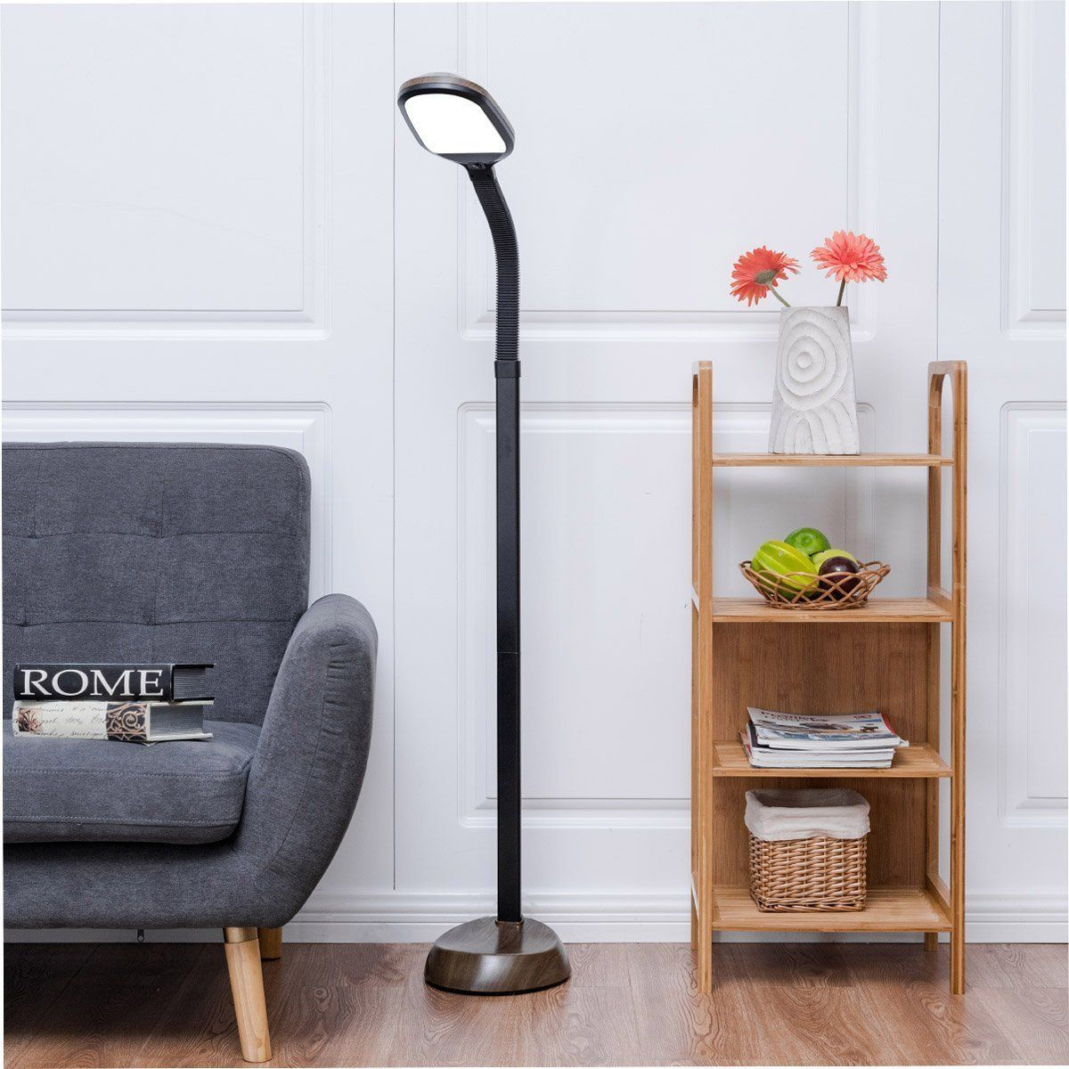 The Gorgeous And Beautiful Design Makes It Best Decorative Lighting Solution For Home Floor Lamps Bedro Gooseneck Floor Lamp Tall Living Room Lamps Floor Lamp #reading #lamp #for #living #room