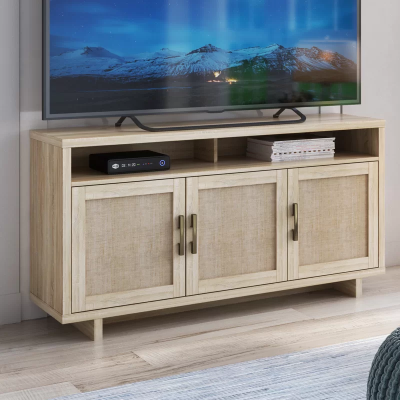 Alviso Tv Stand For Tvs Up To 65 Tv Stand Feature Cabinet Doors Living Room Accessories Wood tv stands for flat screens