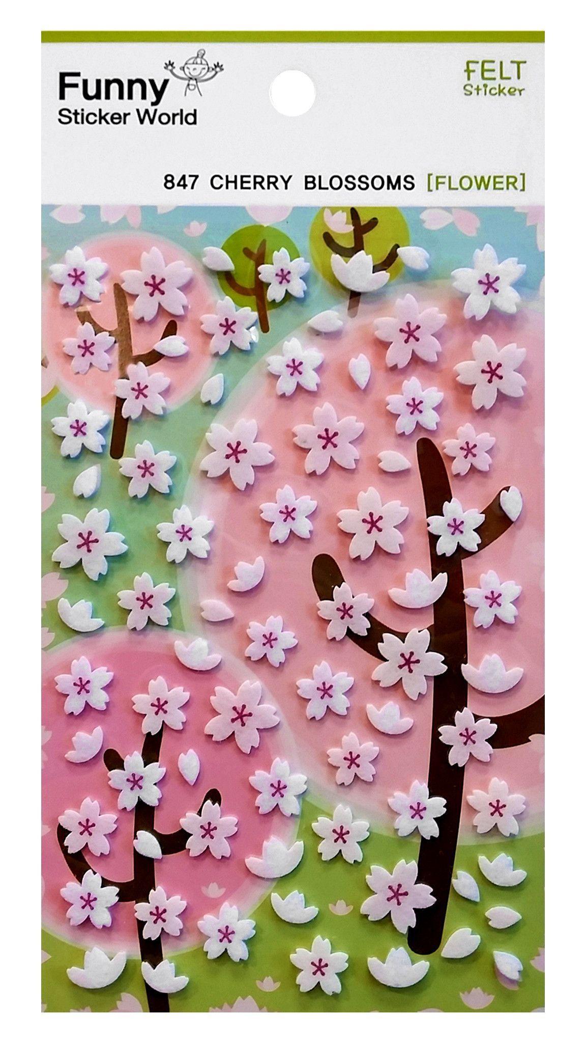 Cherry Blossum Felt Stickers