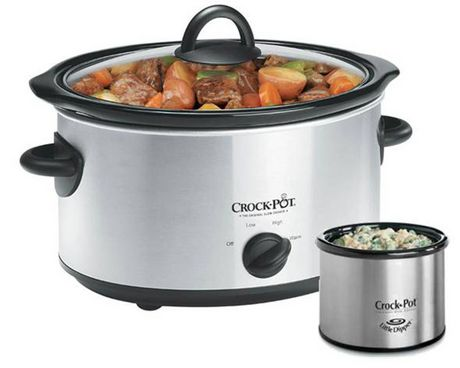 Sunbeam 8 Qt Stainless Steel Slow Cooker With Little Dipper