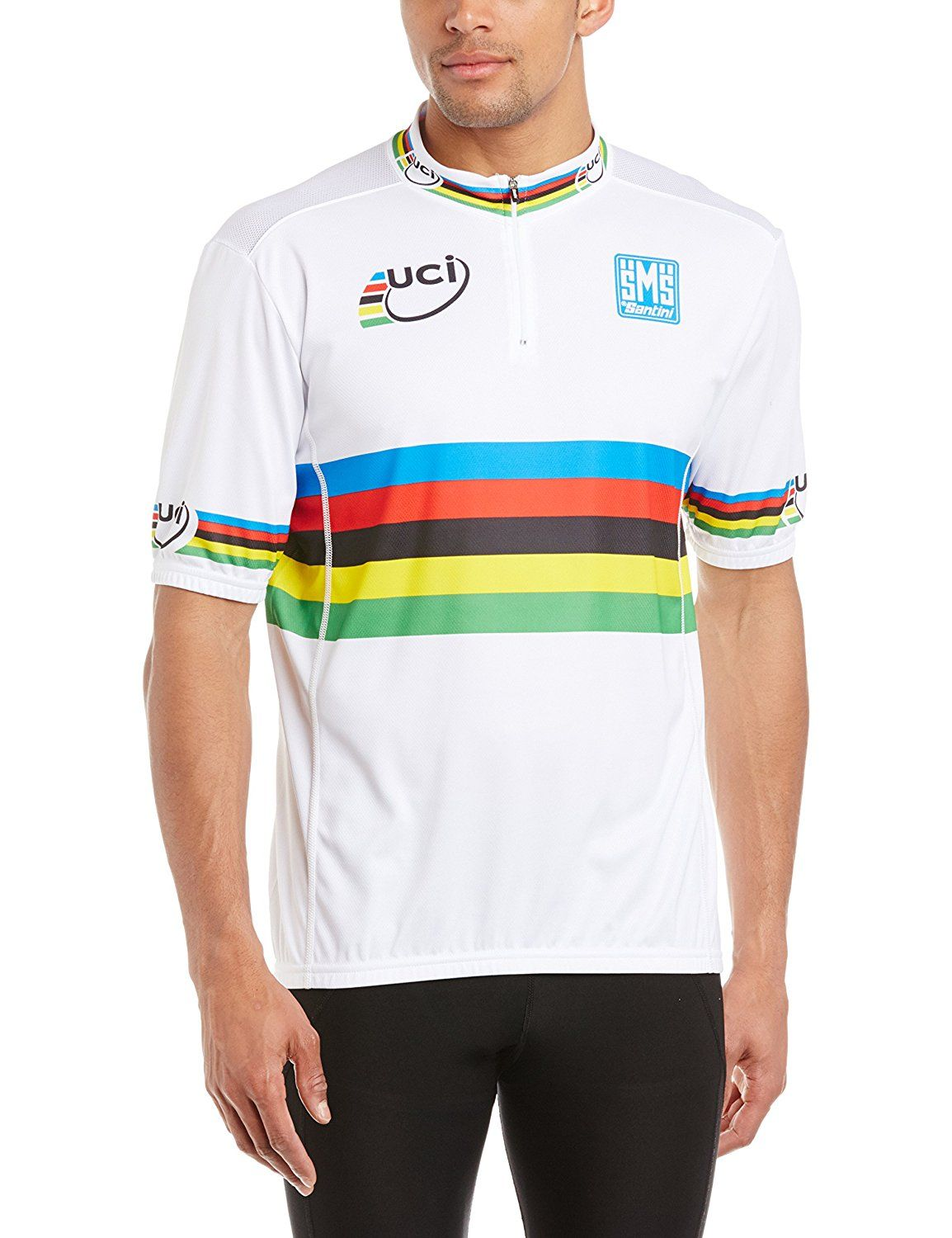 Santini Men s UCI World Road Champion Cycling Jersey     Find out more  about the b970e0700