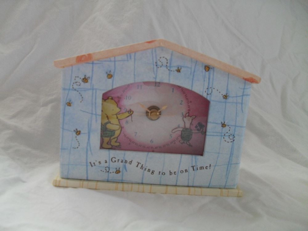 "Classic Pooh Clock ""It's A Grand Thing to Be On Time"" by Micheal & Co."
