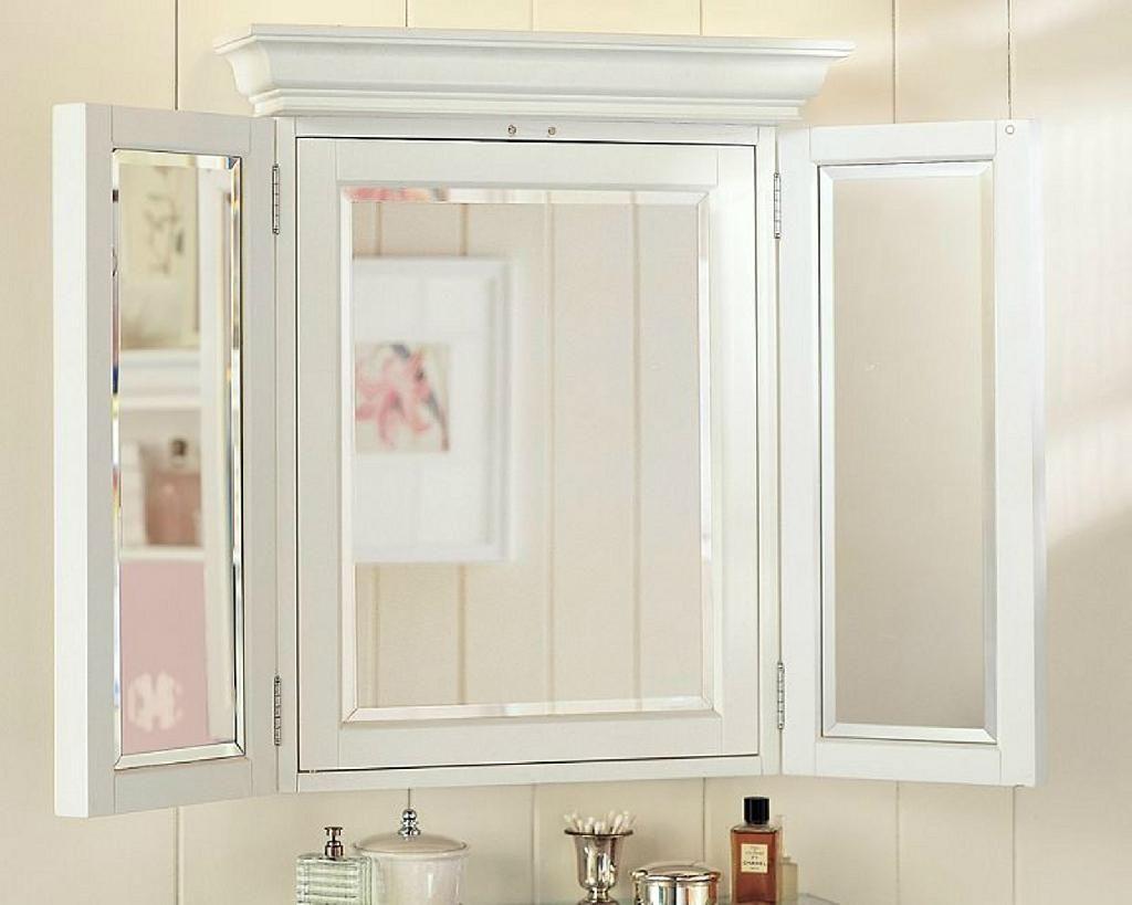 3 Way Bathroom Mirror Cabinet