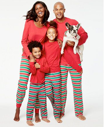 6e2a6903a128 Family Pajamas Holiday Stripe Knit Pajama Sets