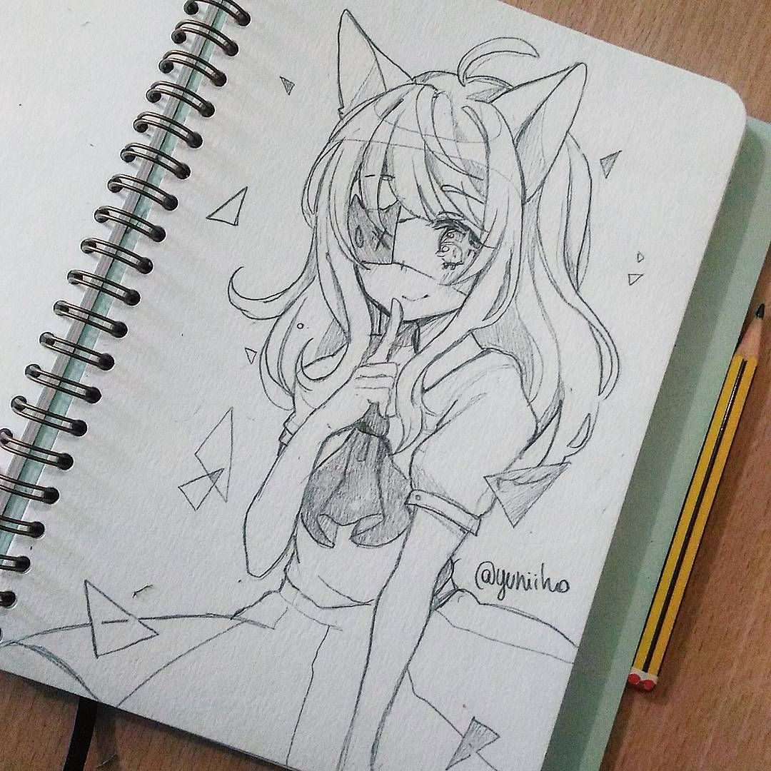 This reminds me of a female human version of foxy from fnaf cool drawings anime