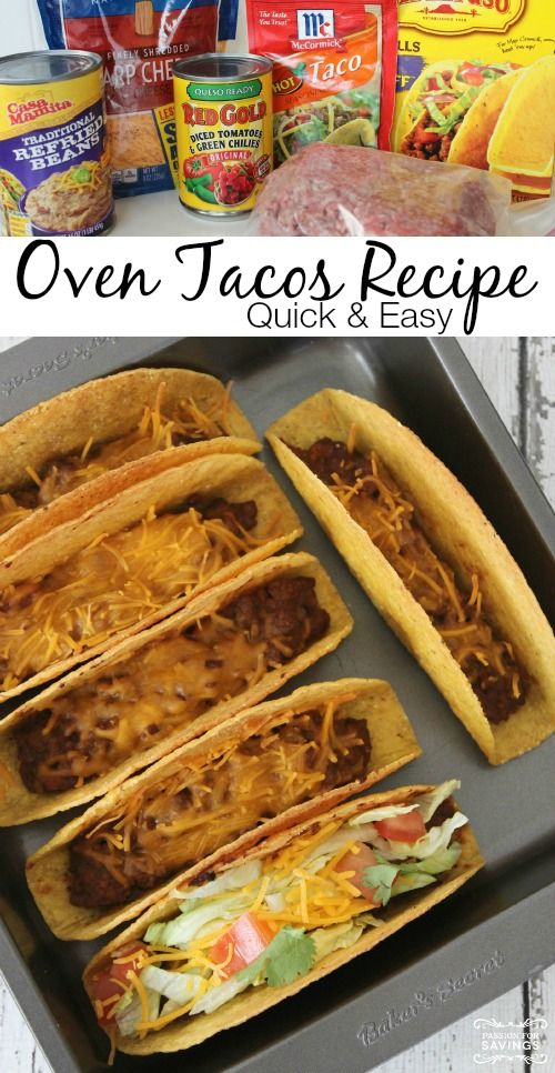 Easy Oven Tacos Recipe!
