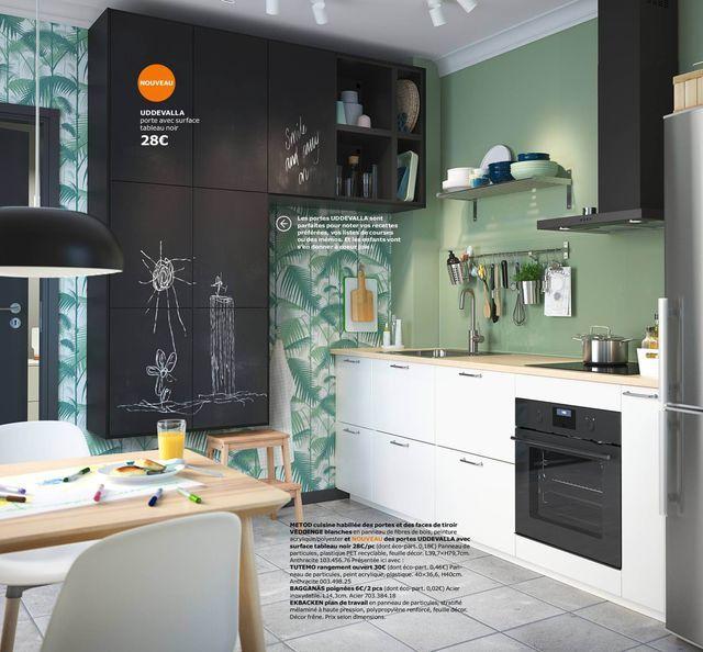 Cuisine Ikea  les nouveautés du catalogue 2018 - Peindre Des Portes En Bois