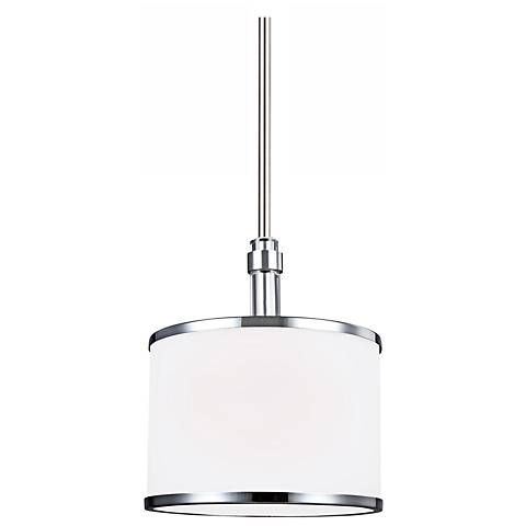 Feiss Prospect Park 8 1 2 W Nickel Chrome Mini Pendant 1t825 Lamps Plus Mini Pendant Feiss Mini Pendant Lights