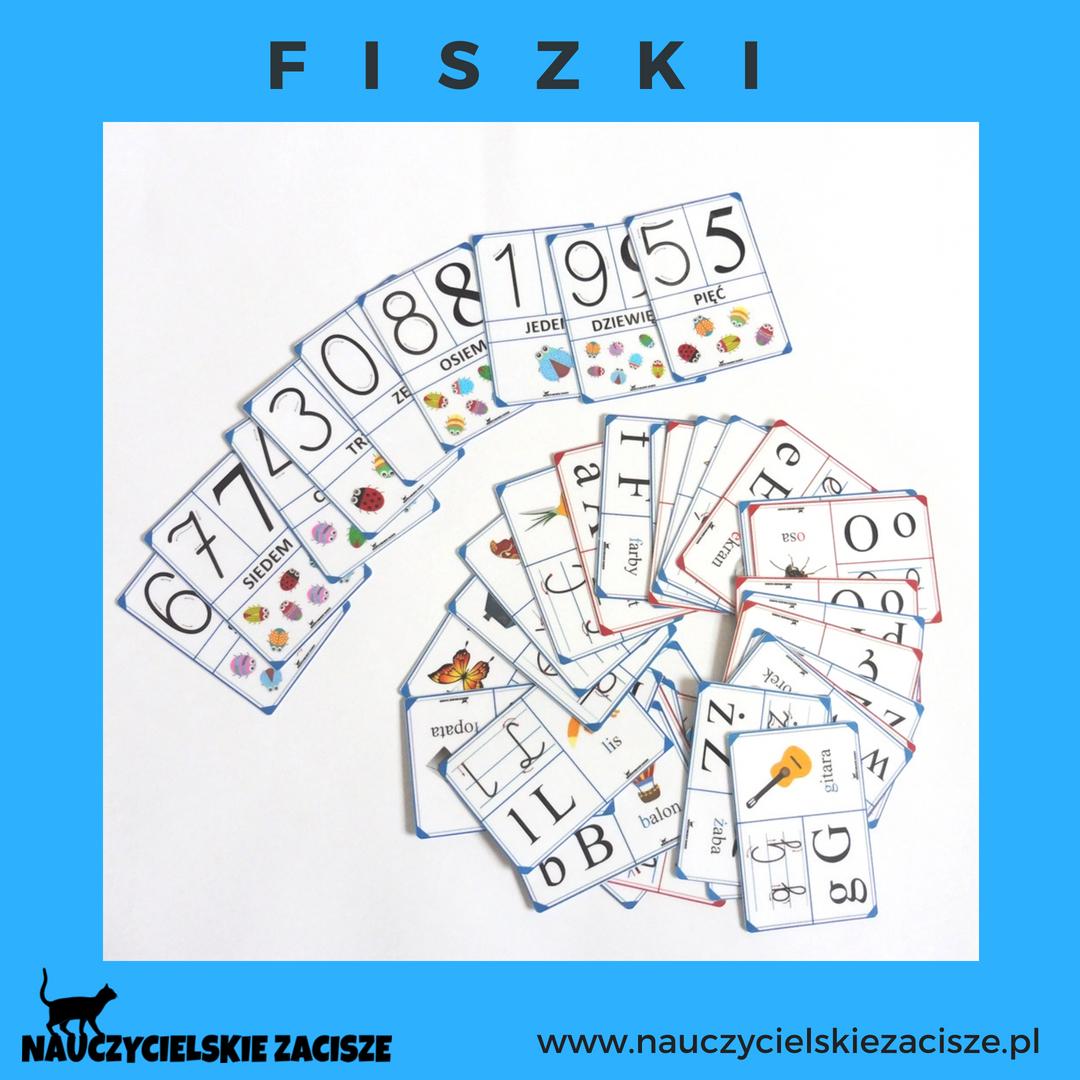 42 Fiszki Z Literami I Cyframi Dla Dzieci Do Przedszkola Szkoly Dla Klasy 1 W Ofercie Kilka Roznych Wersji Liter Oraz Cyfry Alphabet Fo Cards Playing Cards