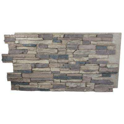 Rustic Lodge 24 In X 48 In X 1 1 4 In Faux Grand Heritage Stack Stone Panel Home