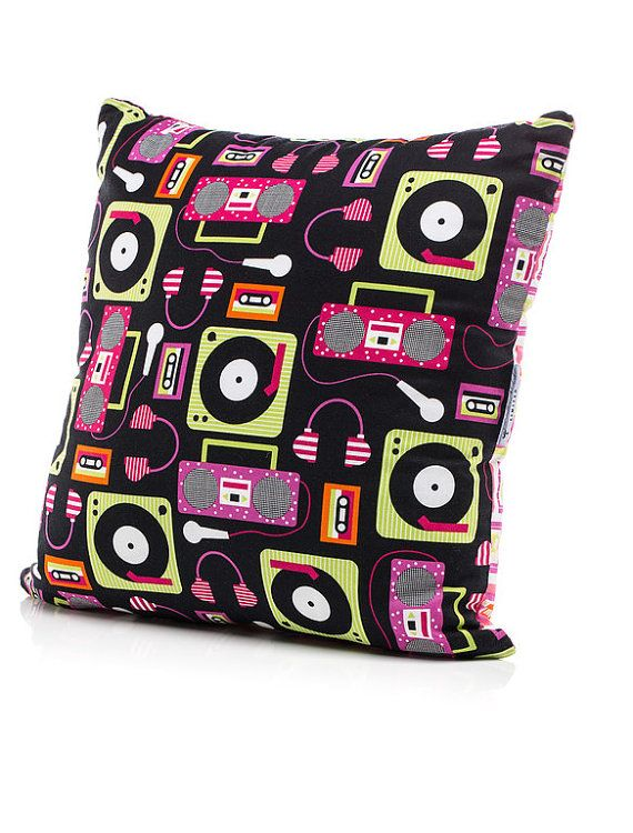Music Themed Living Room Decor: Music Inspired Accent Pillow, Throw Pillow For Girls