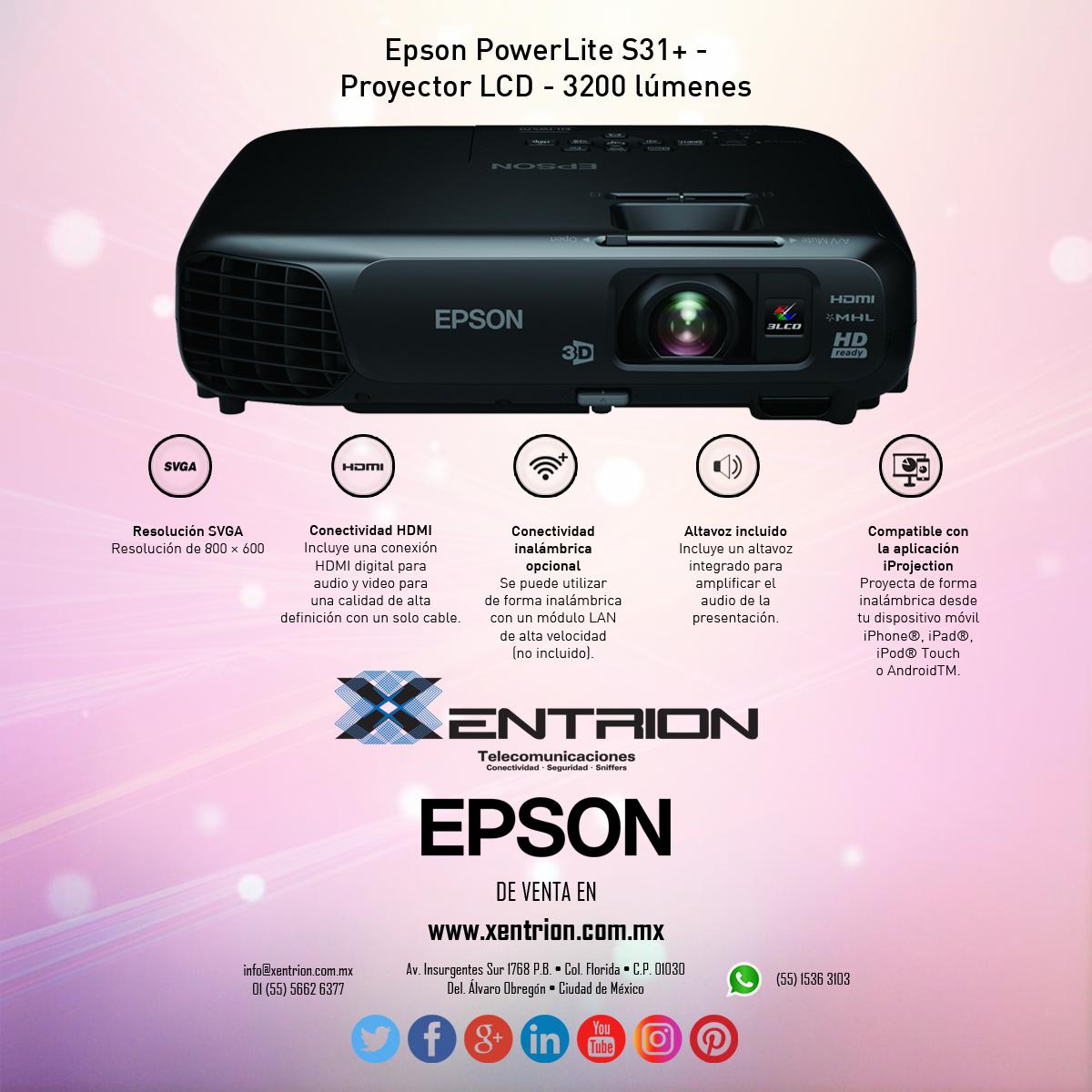 Proyector Epson PowerLite LCD ideal para ver películas en tu casa ...