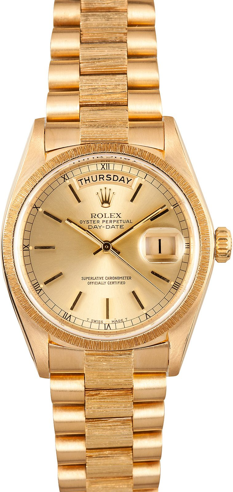 Date Bark Finish President 18k Relojes Rolex Day 18078Watch zUqGMVpS