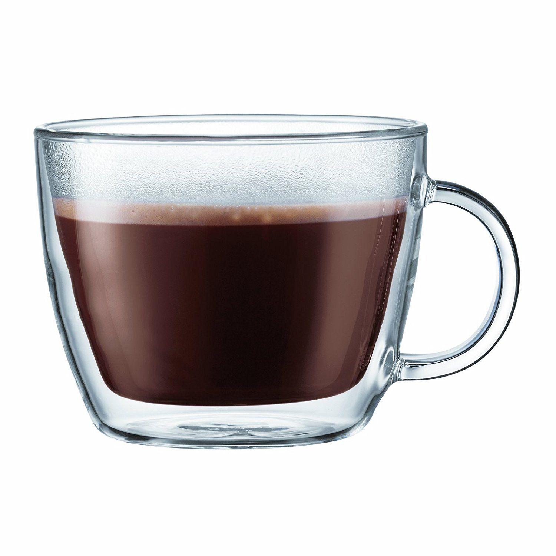 Amazon Bodum Bistro Double Wall Insulated Glass Café Latte Mug