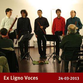 Ex Ligno Voces  Concerto della stagione primaverile da camera 2013  Ottava Nota - Auditorium  via Marco Bruto 24  0289658114 3388576271  info@ottavanota.org  www.ottavanota.org