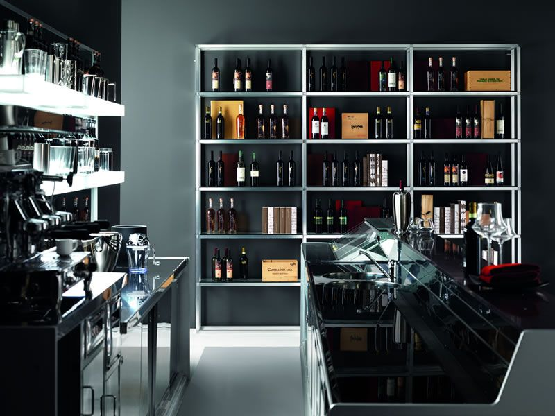 Italian Bar Furniture Design - Model ALUKUADRO