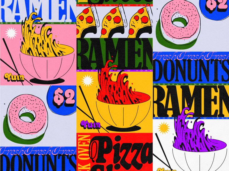 Corner Store Lockup Nyc Food Poster Design Illustration Design