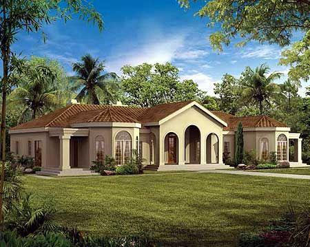 Plan 81309w Mediterranean Oasis Mediterranean House Plans Mediterranean Style House Plans Mediterranean House Plan
