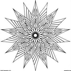 Geometric Coloring Pages Use Basic Shapes And Lines To