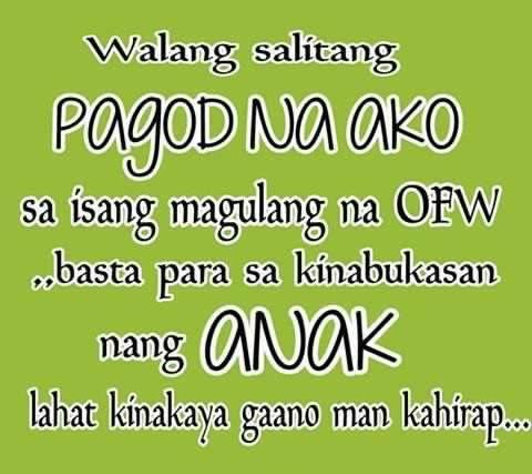 Pagod Na Ako Ofw Quotes Mr Reklamador Tagalog Love Quotes