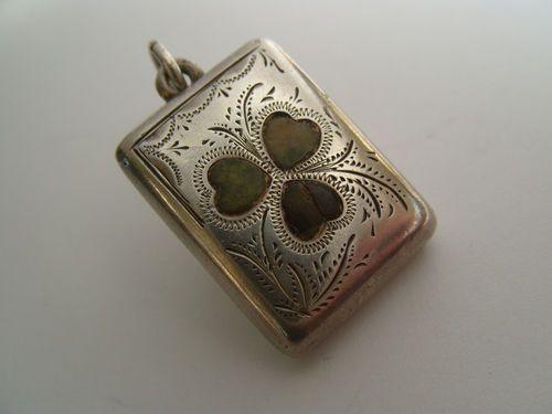 Details Over Antique 1905 Full Irish Hallmark Silver