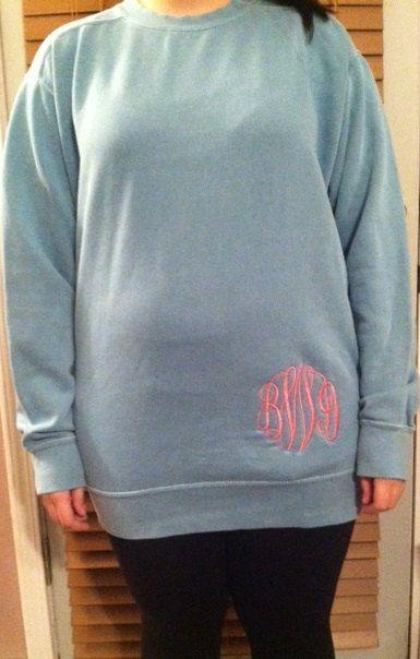 Monogrammed Comfort Color Sweatshirt Comfort Colors Sweatshirt
