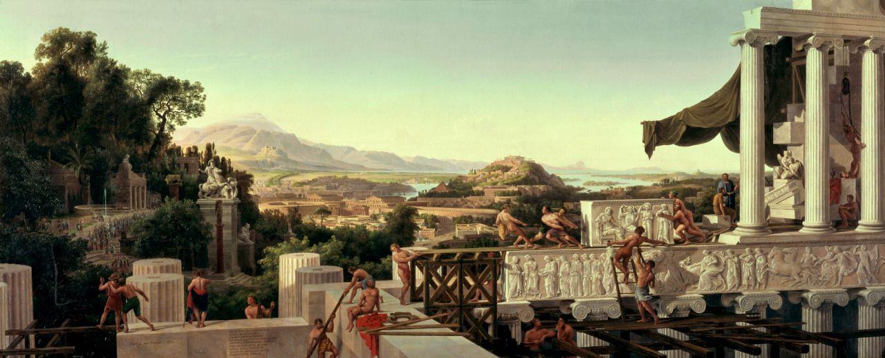 Karl Freidrich Schinkel - View of the Flower of Greece - 1836