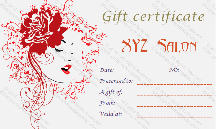 Gift certificate template beautiful printable gift certificate template for a voucher spa gift certificates 101 gift certificate templates yelopaper Image collections