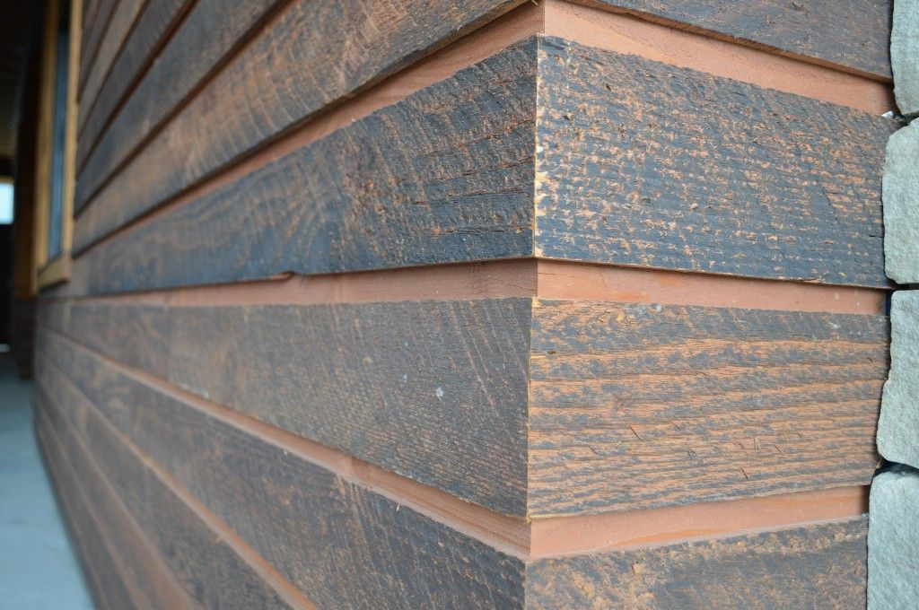 channel rustic siding has been the favorite for presenting a unique - Siding Types