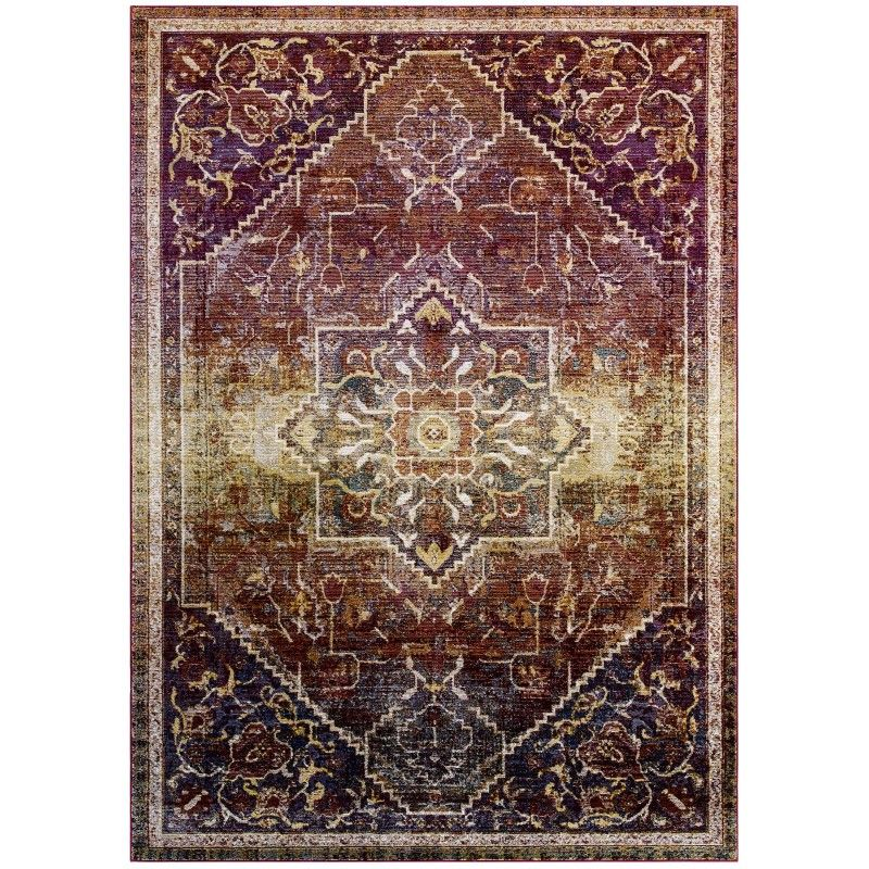 Success Kaede Transitional Distressed Vintage Floral Persian Medallion 8x10 Area Rug Multicolored Area Rugs 8x10 Area Rugs 5x8 Area Rugs