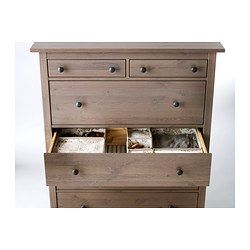 HEMNES 6-drawer chest - gray-brown - IKEA