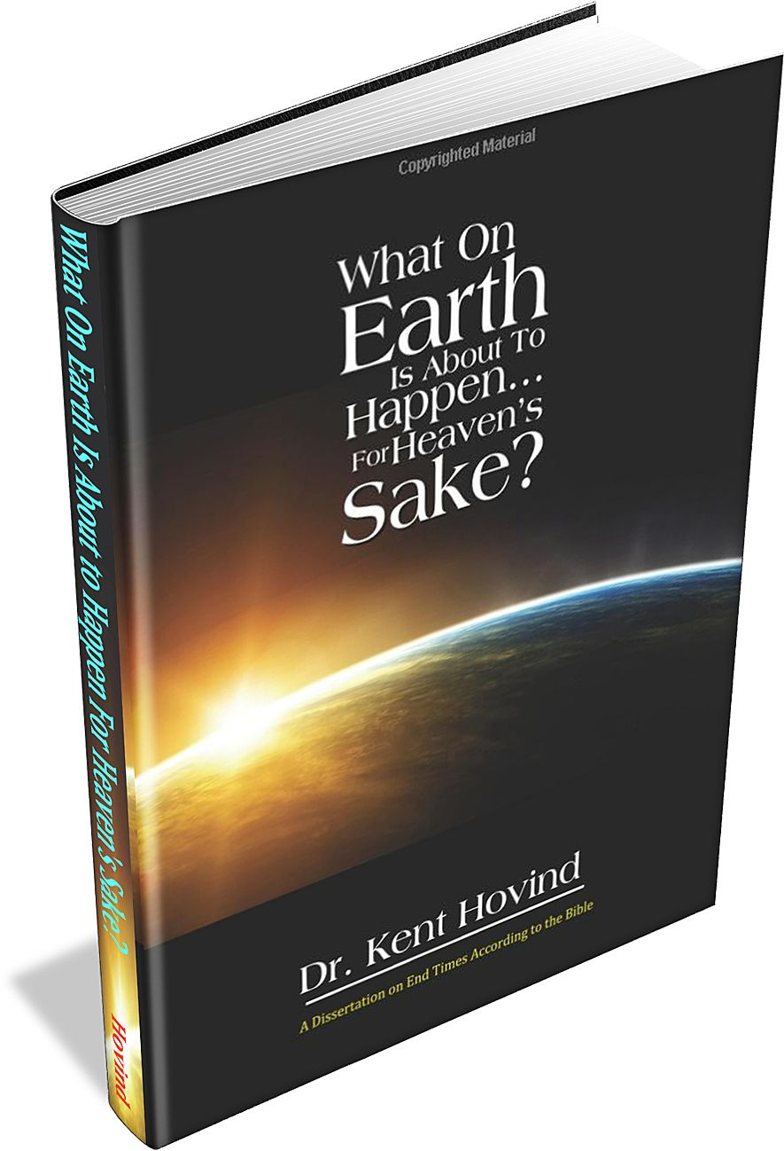 "3D mockup of Kent Hovind's book ""What On Earth Is About to Happen for Heaven's Sake?"""