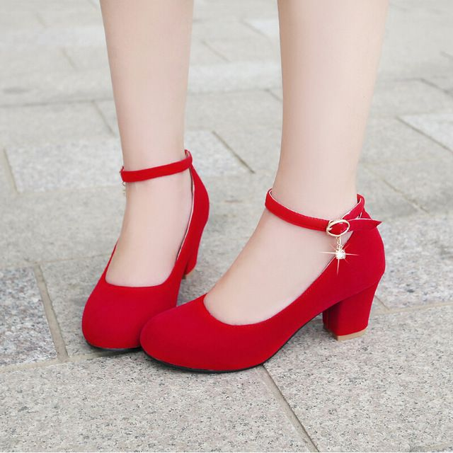 31 Rojo Pequeño Zapatos 32 Medio Primavera 33 Punta Tamaño Redonda TcuFKJ3l15